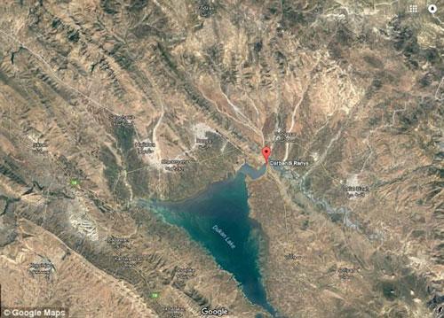 Το σημείο όπου βρέθηκε η αρχαία πόλη είναι ευδιάκριτο μέσω Google Maps.